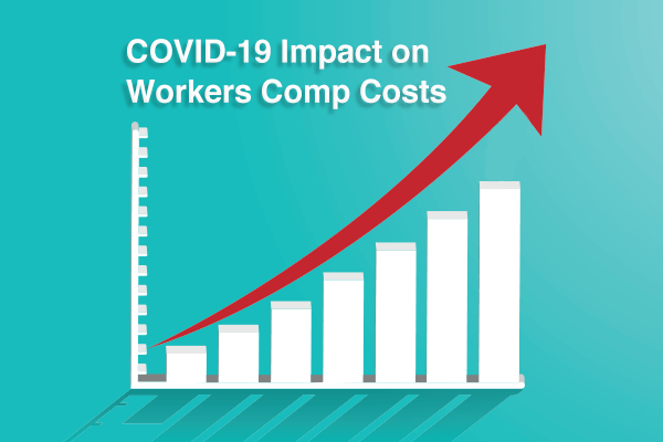 Graph of workers comp insurance rates increasing after COVID-19